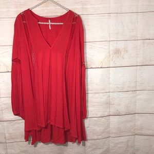 Free people size small little red mini dress